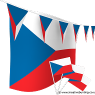 Czech Republic Bunting and Flags Bundle